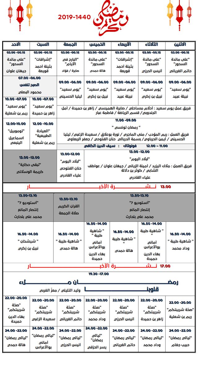 شبكة رمضان 2019